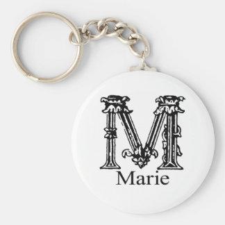 Fancy Monogram: Marie Keychain