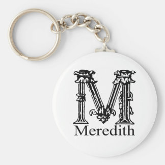 Fancy Monogram: Meredith Keychain
