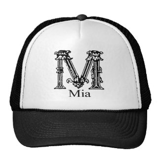 Fancy Monogram Mia Mesh Hats