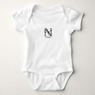 Fancy Monogram: Nicky Baby Bodysuit