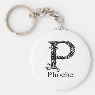 Fancy Monogram: Phoebe Keychain