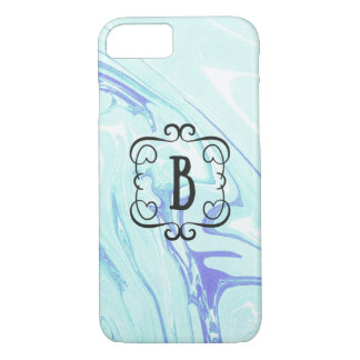 fancy monogram with marble letter B case