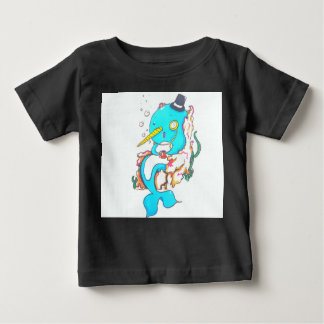 Fancy Mr Narwhal Baby T-Shirt