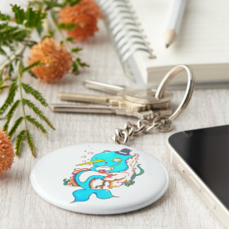 Fancy Mr Narwhal Keychain