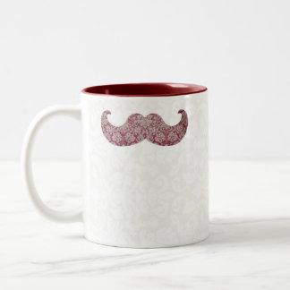 Fancy mustache Two-Tone coffee mug