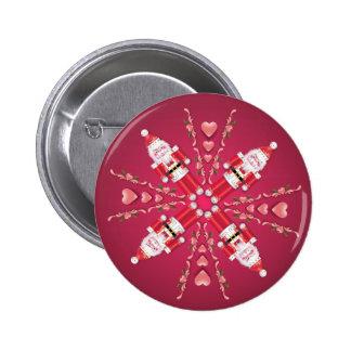 FANCY NUTCRACKER WHEEL by SHARON SHARPE 2 Inch Round Button