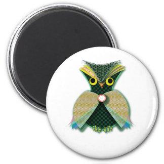 Fancy Owl Magnet