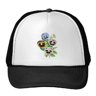 Fancy Pansies Vintage Illustration Trucker Hat