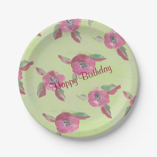Fancy Paper Plates With Watercolor Pattern 7 Inch Paper Plate
