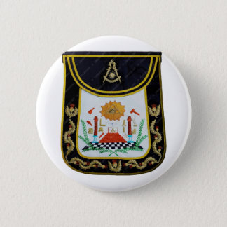 Fancy Past Masters Apron 2 Inch Round Button