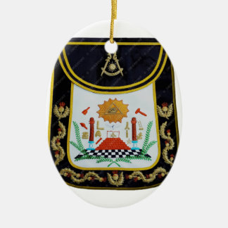 Fancy Past Masters Apron Ceramic Oval Ornament