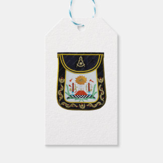 Fancy Past Masters Apron Gift Tags