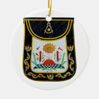 Fancy Past Masters Apron Round Ceramic Ornament