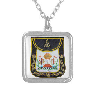Fancy Past Masters Apron Silver Plated Necklace