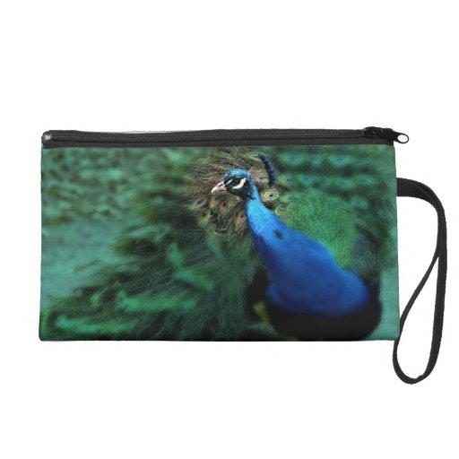 Fancy Peacock Wristlet