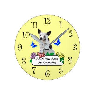Fancy Pet Grooming Or Veterinarian Clock