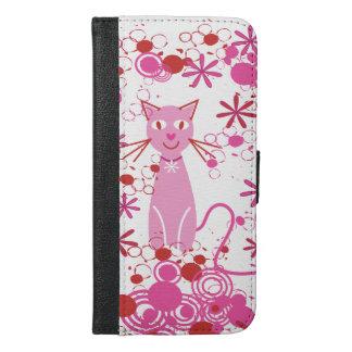Fancy Pink Cat iPhone 6/6s Plus Wallet Case