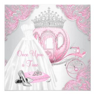 Fancy Pink Cinderella Princess Birthday Party Card