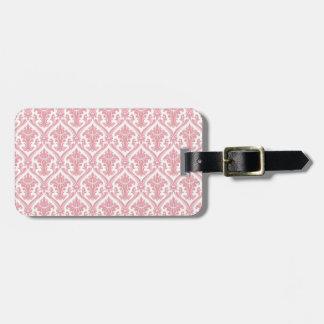 Fancy Pink Pattern Luggage Tag