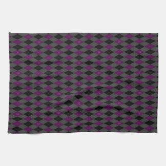 Fancy Purple Argyle Kitchen Towel