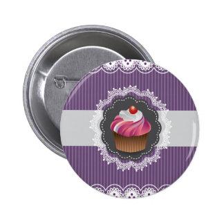 Fancy Purple Cupcake Button