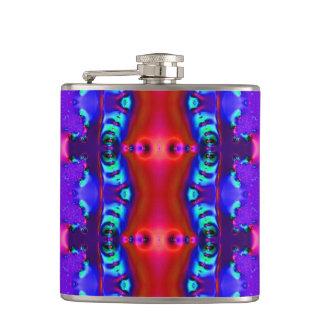 Fancy Purple Red Fractal Flask