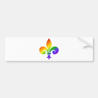 Fancy Rainbow Fleur de Lis Bumper Sticker