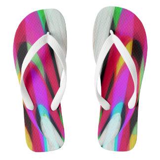Fancy rainbow flip flops