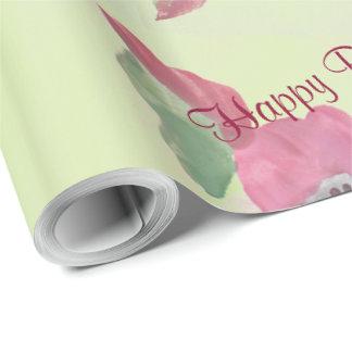 Fancy Raspberry Wine Watercolor Gift-Wrap