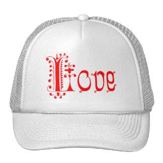 Fancy Red Loopy Love Trucker Hat