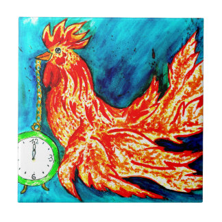 Fancy Rooster Art 2 Tile