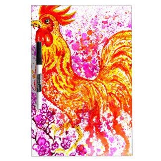 Fancy Rooster Art 3 Dry-Erase Whiteboards