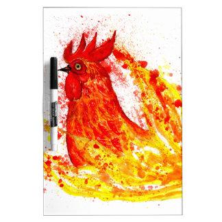 Fancy Rooster Art 4 Dry Erase Boards