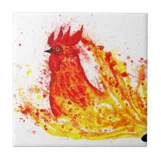 Fancy Rooster Art 4 Tiles
