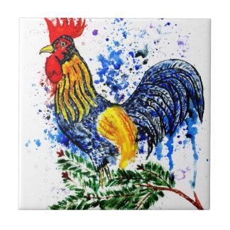 Fancy Rooster Art 5 Ceramic Tiles
