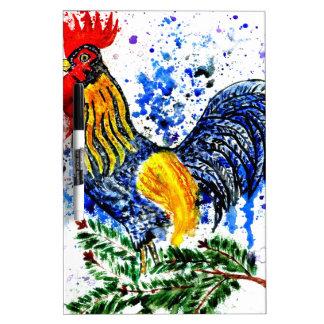 Fancy Rooster Art 5 Dry Erase Boards