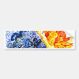 Fancy Rooster Art Bumper Sticker