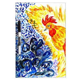 Fancy Rooster Art Dry Erase Whiteboard