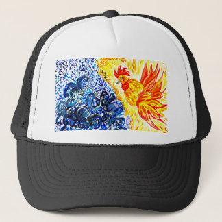 Fancy Rooster Art Trucker Hat