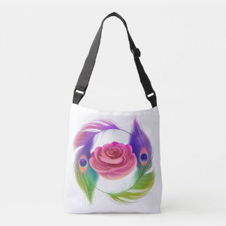 Fancy Rose & Feathers Tote (LARGE)