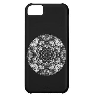 Fancy Round Design on Black. iPhone 5C Cases