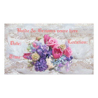Fancy Save the Date Wedding  Profile Card Business Card Templates