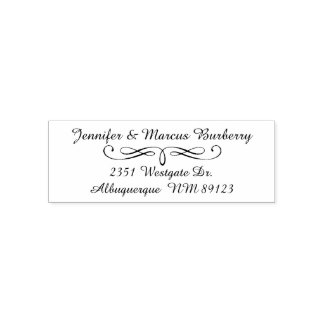 Fancy Script Return Address Self Inking Stamp