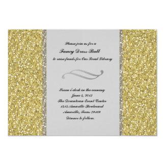 Fancy Silver Gold Glitter Event Invitation