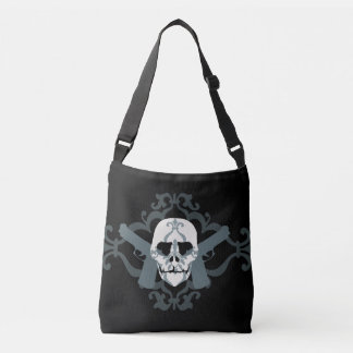 Fancy Skull with Guns Tote
