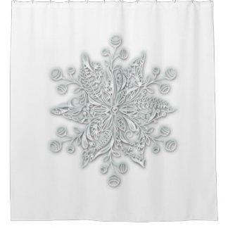 Fancy Snow Shower Curtain