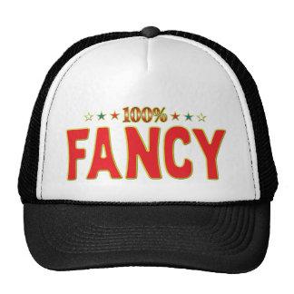 Fancy Star Tag Mesh Hat