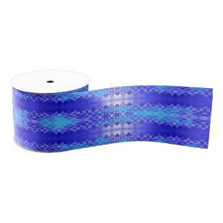 Fancy Stripes Blue Grosgrain Ribbon