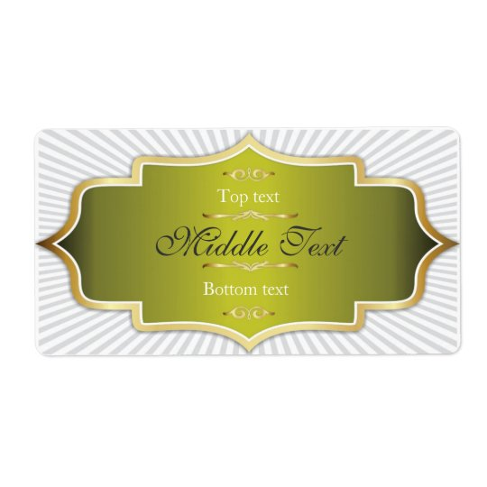 Fancy Style Jam Jelly Label Green Shipping Label