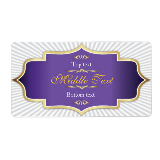 Fancy Style Jam Jelly Label Purple